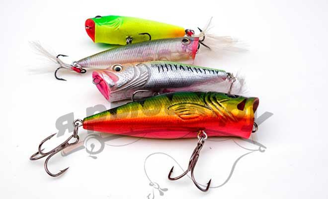 Приманки для рыбалки попперы